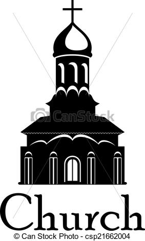 Vector Clipart of Religious temple or church.