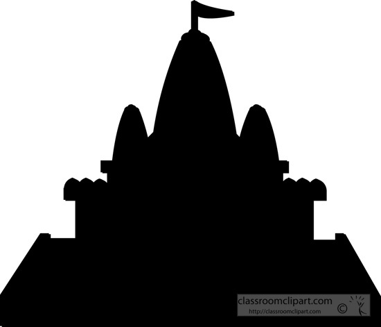 Silhouette of a buddhist temple » Clipart Station.