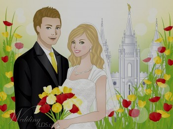 Lds Temple Marriage Clipart.