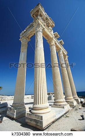Stock Photography of The Temple of Apollo in Side, Turkey k7334380.