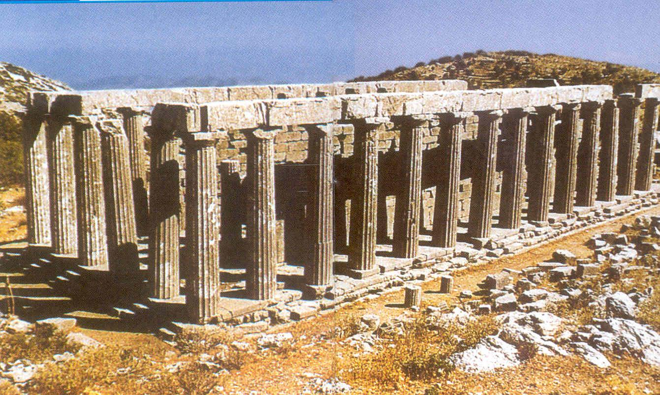 Temple to Apollo art Bassae, Greece. This is an example of the.