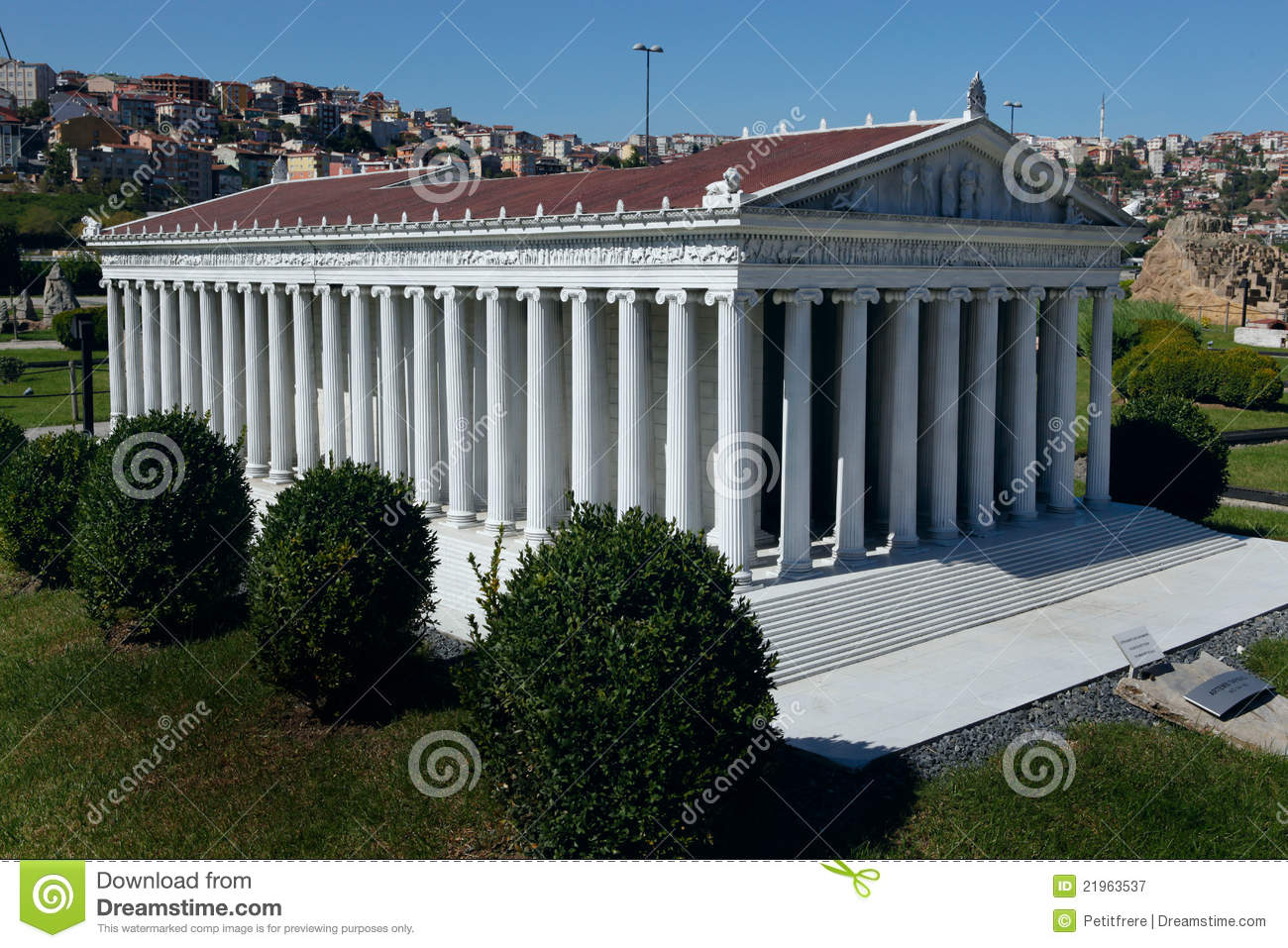 Model Of Temple Of Artemis Stock Image.