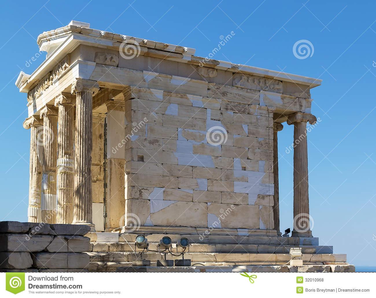 Temple Of Athena Nike, Athens Royalty Free Stock Photos.