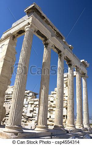 Stock Photo of Temple of Athena Nike, Athens, Greece.