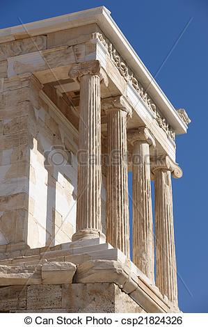 Stock Photo of Acropolis of Athens. Temple of Athena Nike. Greece.