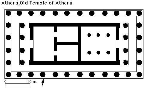 The Archaic Temple to Athena, Athens Acropolis.