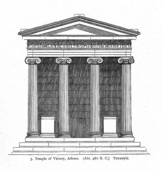architect Kallikrates. Acropolis, Temple of Athena Nike.