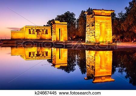 Stock Image of Temple Debod of Madrid k24667445.