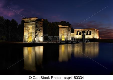 Stock Photo of Temple of Debod.