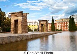 Stock Image of Temple of Debod, Madrid csp0865526.