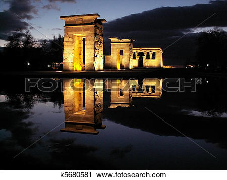 Stock Photography of egyptian temple debod k5680581.