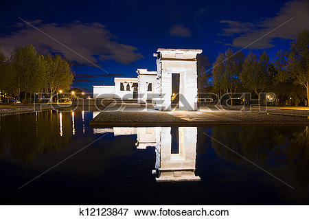 Picture of Temple of Debod in Madrid, Spain k12123847.