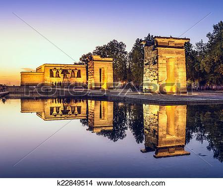 Stock Photo of Temple Debod of Madrid k22849514.