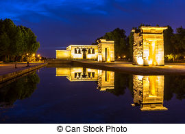 Stock Photo of The Egyptian temple Debod.