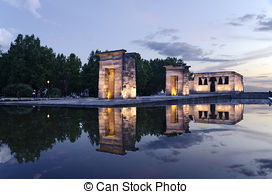 Stock Image of Temple of Debod in Madrid.