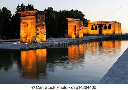 Stock Photography of Temple of Debod, Madrid, Spain.