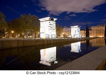 Stock Photo of Temple of Debod in Madrid, Spain csp12123844.