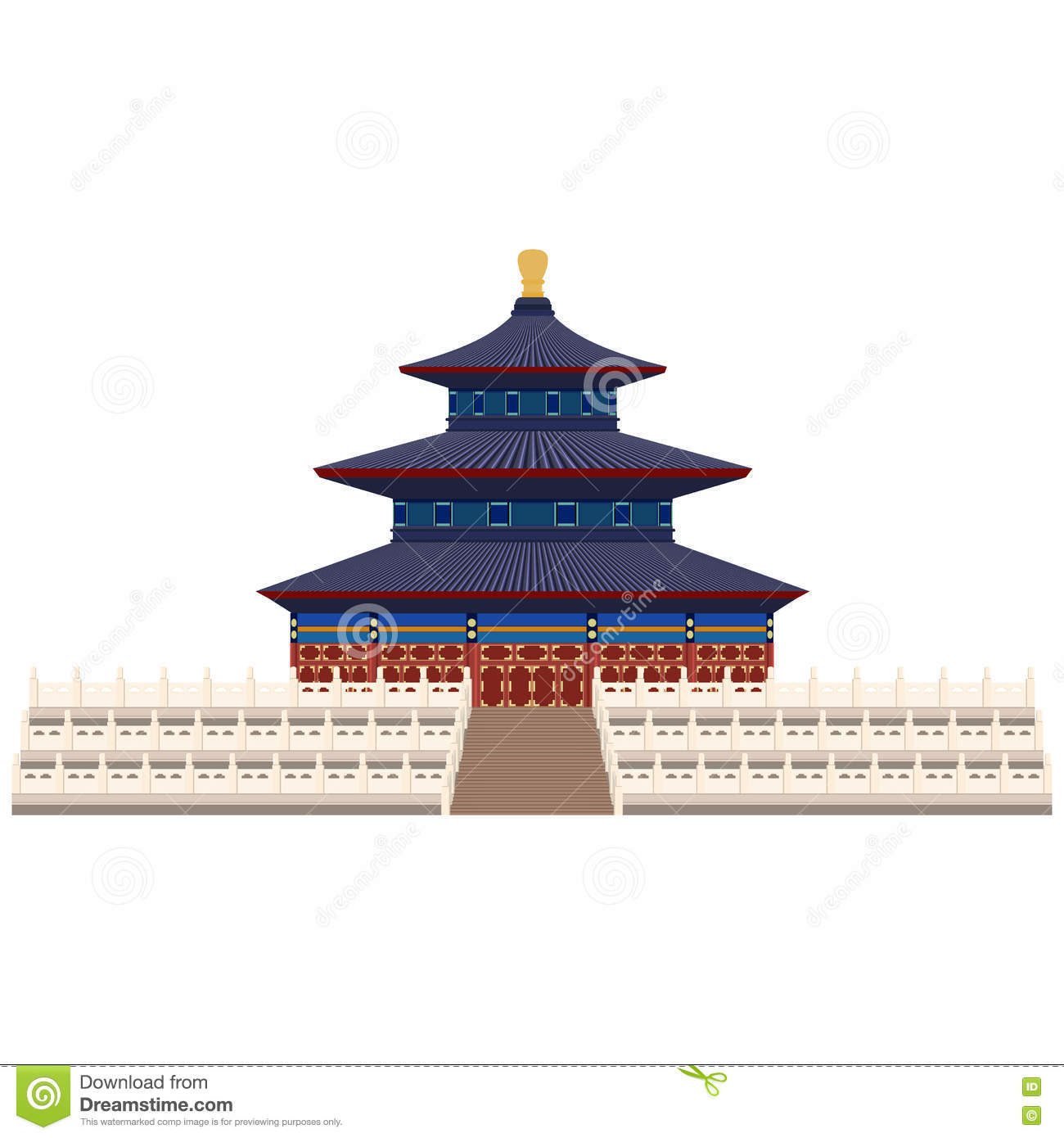 Temple Heaven Beijing Stock Illustrations.
