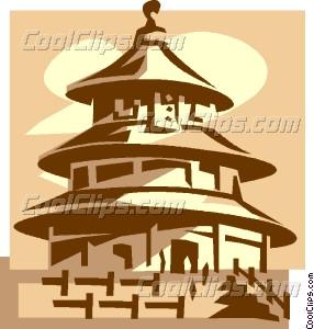 Temple of Heaven Vector Clip art.