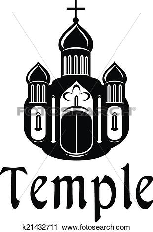 Clipart of Religious temple or church icon k21432711.