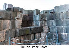 Stock Photo of Temple of the three windows, Machu Picchu, Peru.