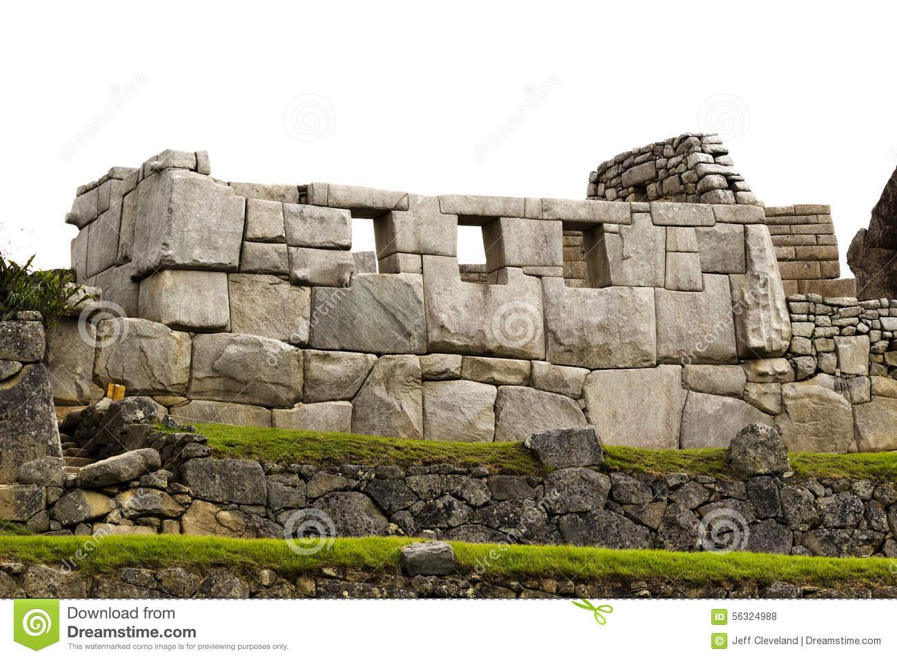 Temple Of The Three Windows Machu Picchu Stock Photo.