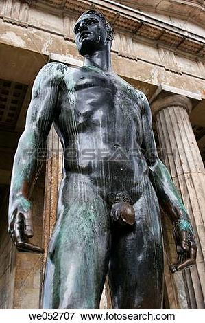 Picture of Bronze statue of Theseus standing guard at the Theseus.