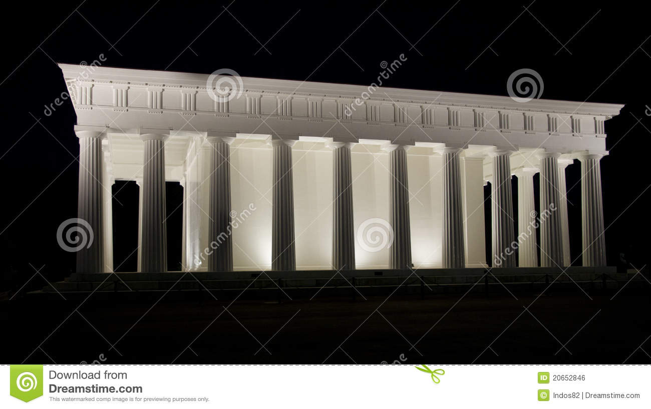 Temple Of Theseus In Volksgarten Royalty Free Stock Image.