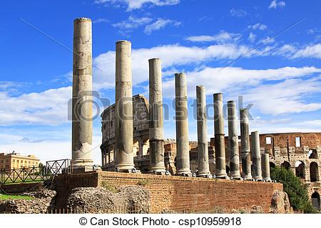 Stock Photography of Temple of Venus and Rome ancient ruins in.