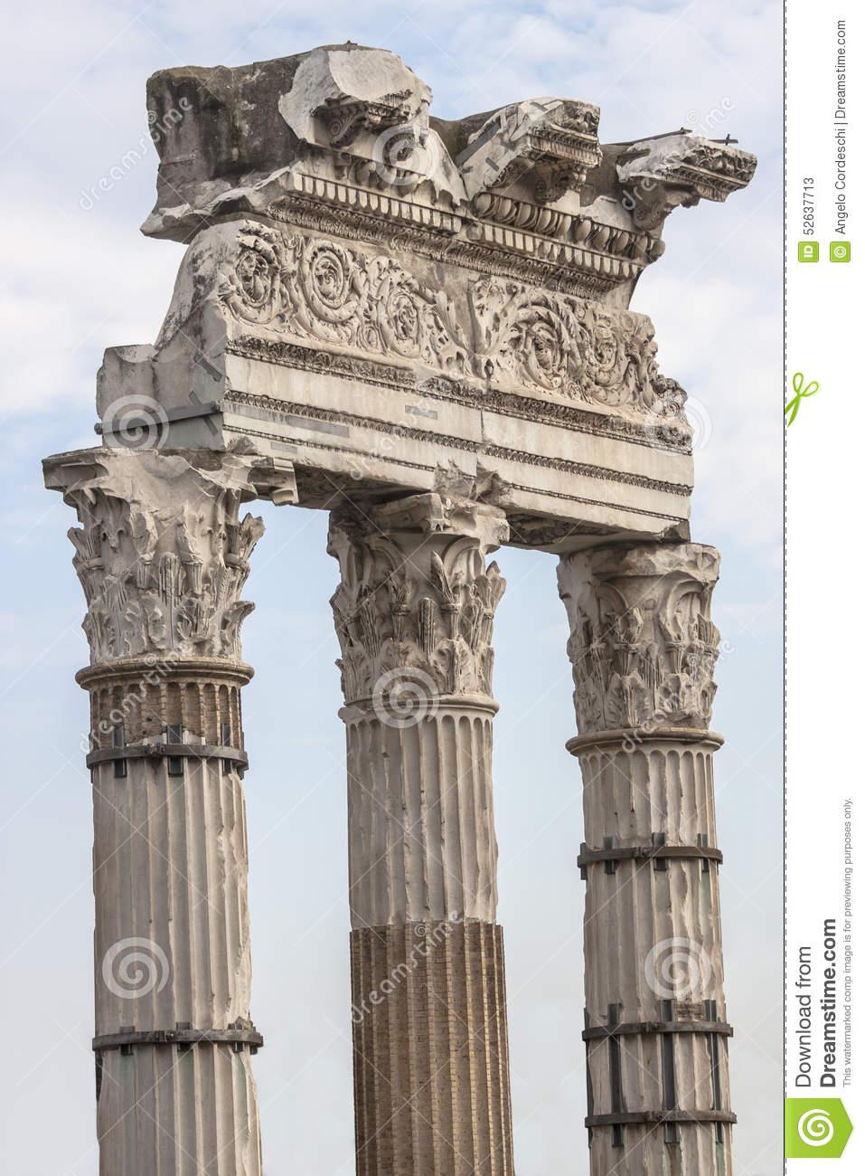 Temple Of Venus Genetrix. Rome, Italy Stock Photo.