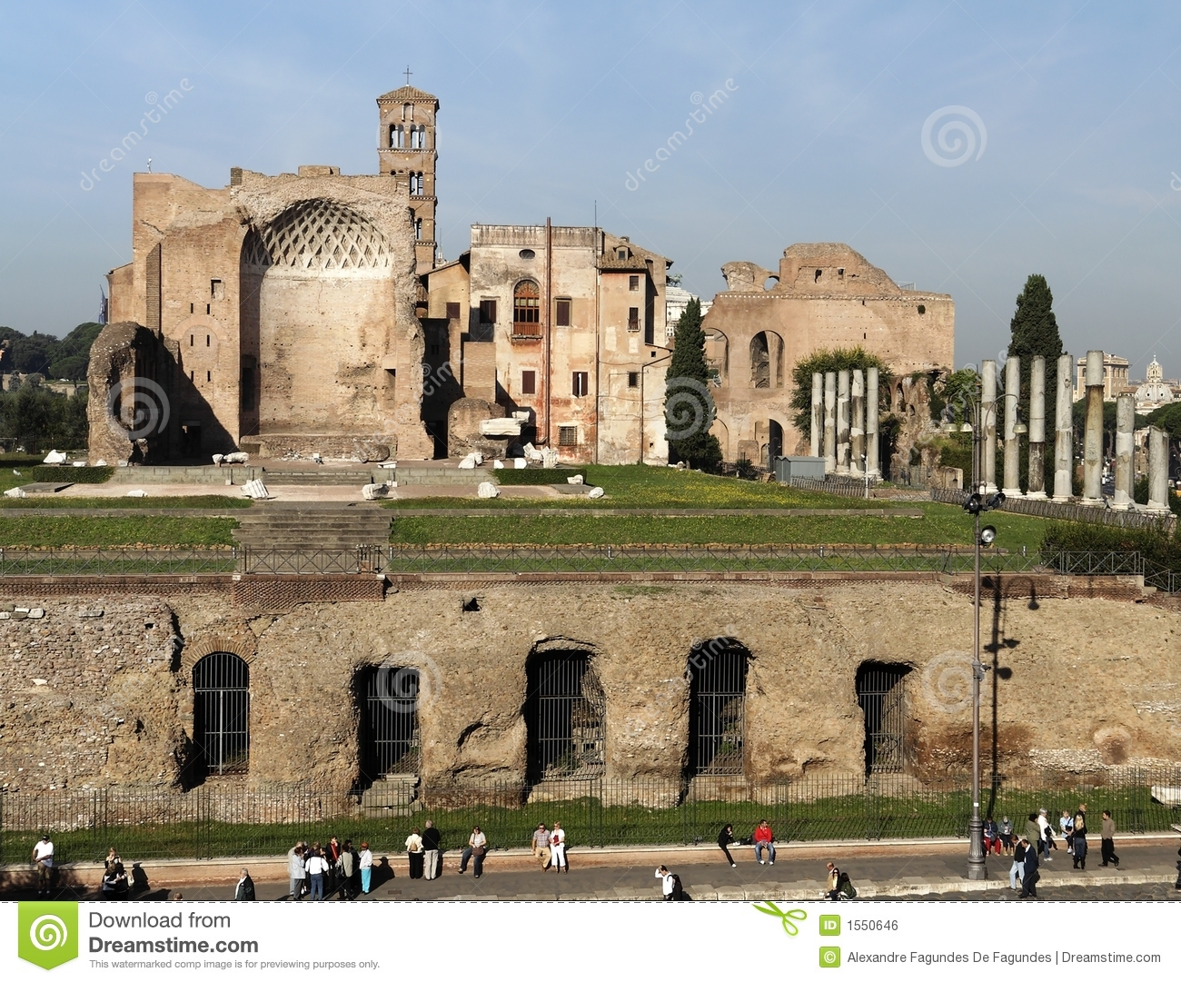 Roman Forum Temple Of Venus Royalty Free Stock Image.