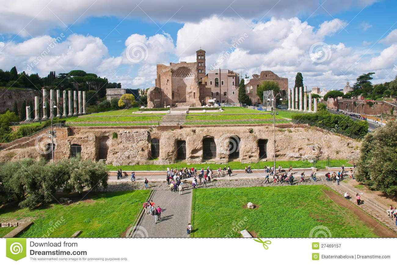 The Temple Of Venus And Roma In Rome Royalty Free Stock.