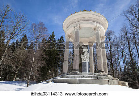"""Stock Photo of """"Temple of Venus in the gardens of Schloss."""