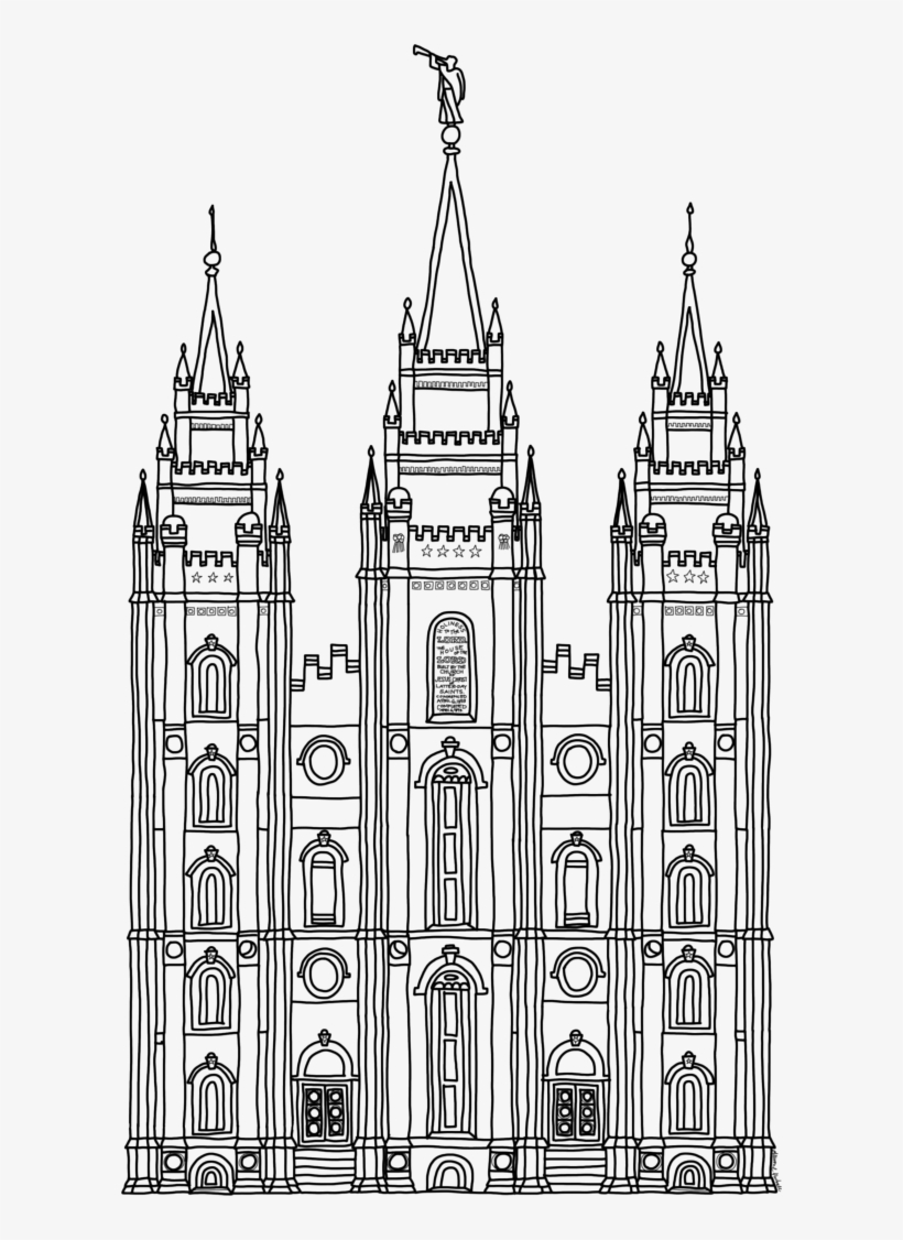 Temple Clipart Outline.