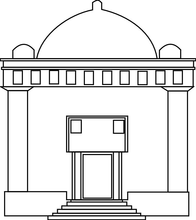 jewish temple outline coloring page.