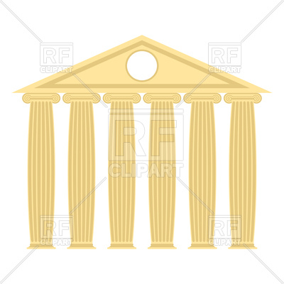 Greek temple with columns and roof Vector Image #131716.
