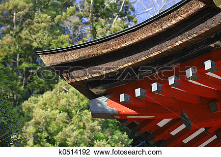 Stock Photo of Japanese temple roof k0514192.