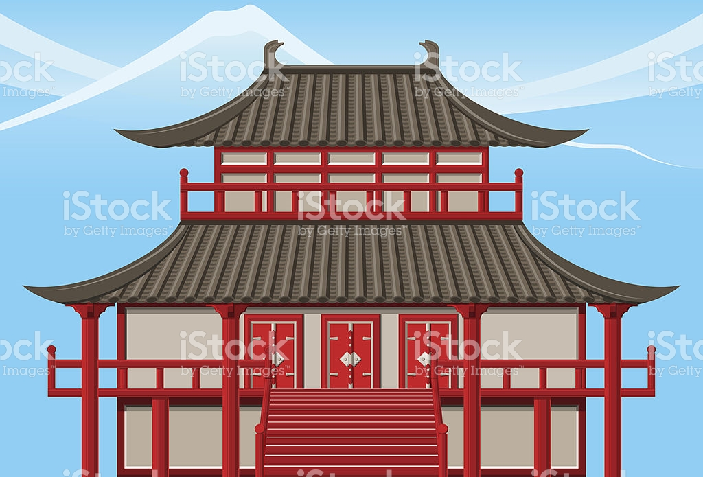 Japanese Temple stock vector art 165675016.