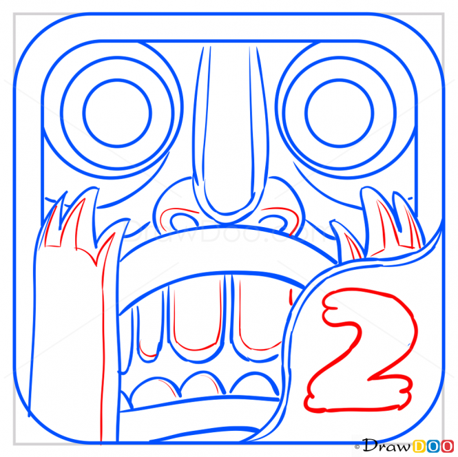 How to Draw Icon, Temple Run.
