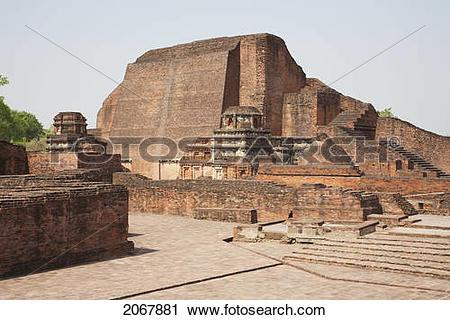 Stock Photography of Sariputra Stupa (Temple Site No.3), Nalanda.
