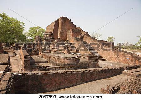 Stock Photo of Sariputra Stupa (Temple Site No.3), Nalanda.
