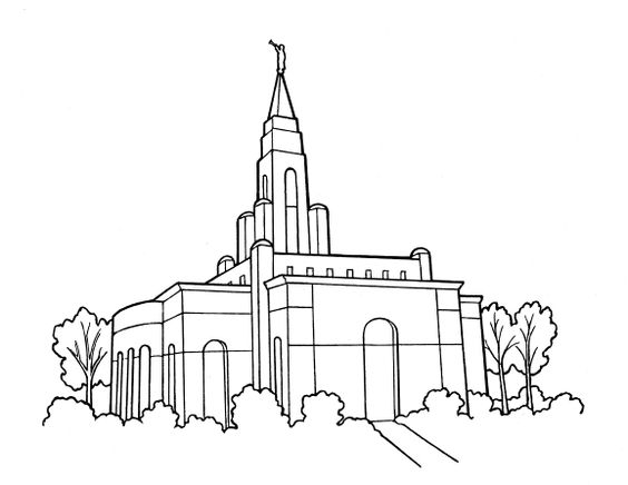 LDS Temple Coloring Page.