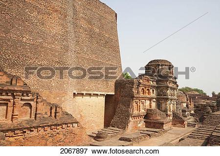Picture of Sariputra Stupa (Temple Site No.3), Nalanda Mahavihara.