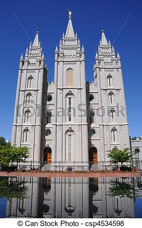 Pictures of LDS Mormon Temple In Salt Lake City csp4534598.