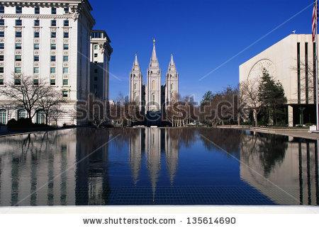 Mormon Temple Salt Lake City Stock Photos, Royalty.