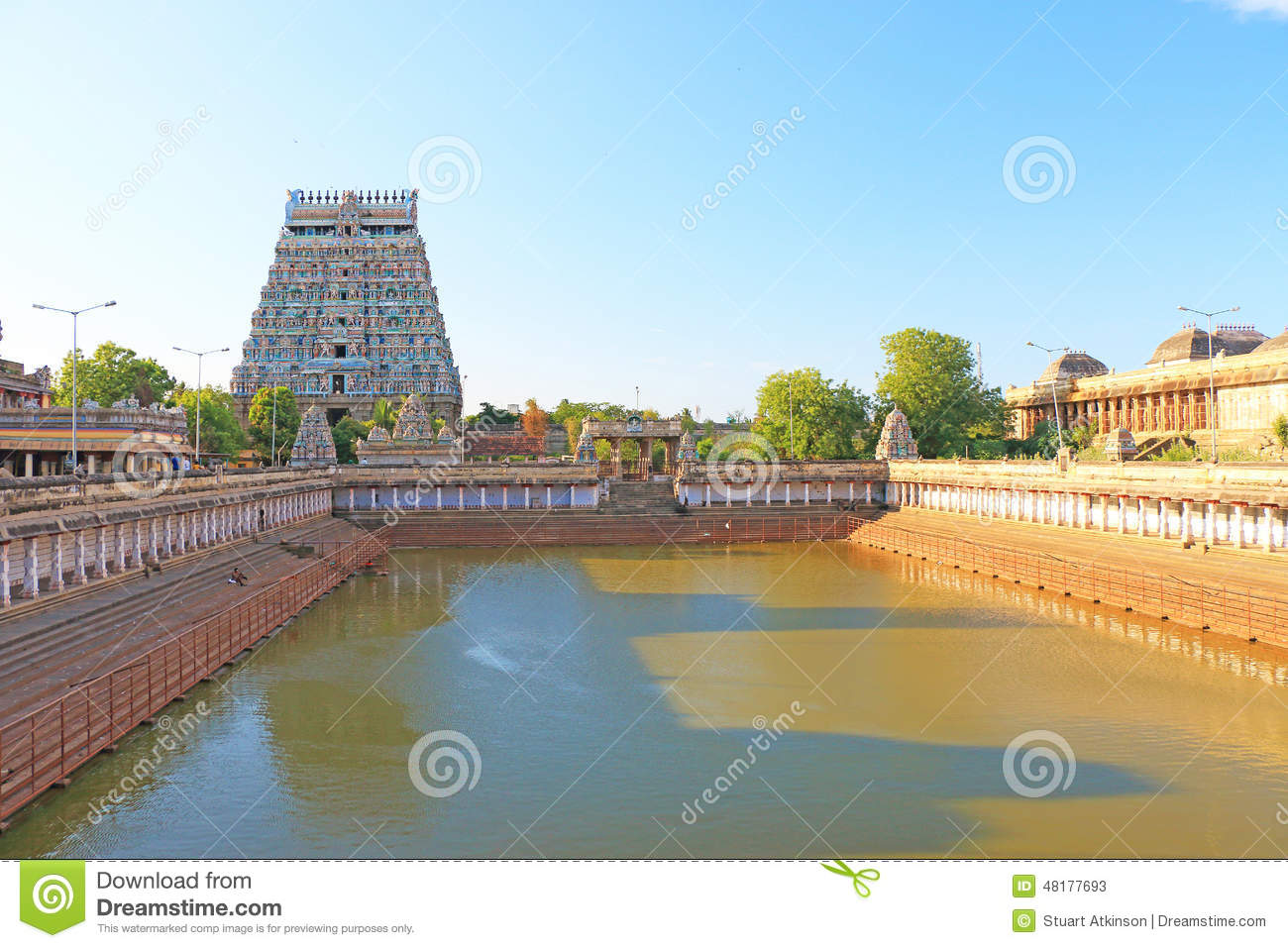 Massive Ancient Temple Complex Chidambaram Tamil Nadu India.