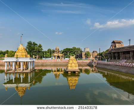 Temple Tank Stock Images, Royalty.