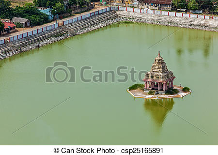 Stock Photographs of Temple Tank of Lord Bhakthavatsaleswarar Coil.