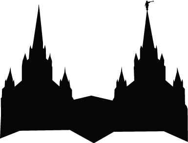 Lds Temple Silhouette Clipart.