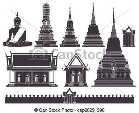 Thai temple clipart.